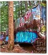 Whistler Train Wreck Box Car Graffiti Canvas Print