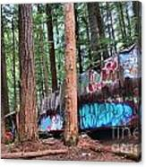 Whistler Train Wreckage In The Trees Canvas Print