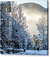 Whistler Village On A Sunny Winter Day Canvas Print