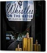Whistles On The Water Canvas Print