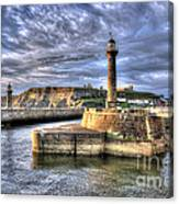 Whitby Harbour On The North Yorkshire Coast Canvas Print