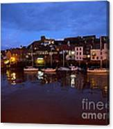 Whitby Lower Harbour At Night Canvas Print
