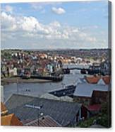 Whitby Rooftops Canvas Print