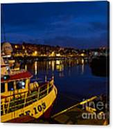 Whitby Upper Harbour At Night Canvas Print