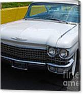 White 1960 Caddy Canvas Print