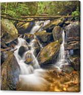 White And Rocky Hdr Canvas Print
