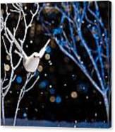 White Bird In Winter Canvas Print