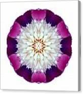 Bowl Of Beauty Peony II Flower Mandala White Canvas Print