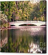 White Bridge Canvas Print