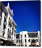 White Buildings On Blue Sky IIi Canvas Print