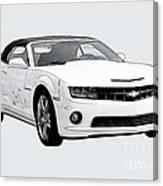 White Camaro Canvas Print