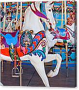 White Carousel Horse Canvas Print