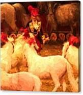White Circus Ponies Canvas Print
