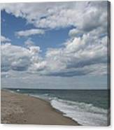 White Clouds Over The Ocean Canvas Print