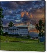 White Columns Under Evening Skies Canvas Print