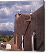 White Crosses At Taos Canvas Print
