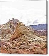White Domes Panorama Canvas Print