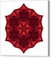 Dying Amaryllis IIi Flower Mandala White Canvas Print