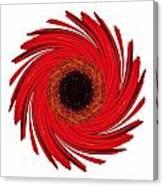 Dying Amaryllis Vii Flower Mandala White Canvas Print