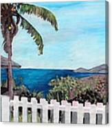 White Fence At English Harbour Antigua West Indies Canvas Print