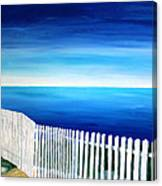 White Fence In Port Reyes National Seashore California Canvas Print