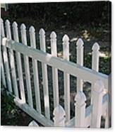 White Fence Provincetown Canvas Print