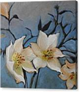 White Flowers No.1 Canvas Print