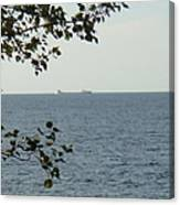 White Freighter Canvas Print