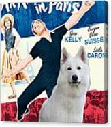White German Shepherd Art Canvas Print - An American In Paris Movie Poster Canvas Print