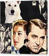 White German Shepherd Art Canvas Print - Suspicion Movie Poster Canvas Print