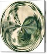 White Gold Ball Canvas Print