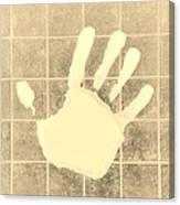 White Hand Sepia Canvas Print
