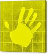 White Hand Yellow Canvas Print