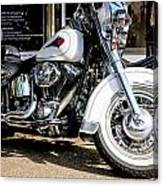 White Harley Canvas Print