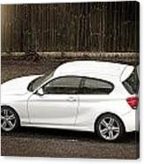 White Hatchback Car Canvas Print