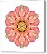 Hibiscus Rosa-sinensis I Flower Mandala White Canvas Print