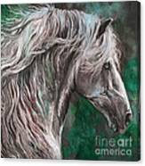 White Horse Painting Canvas Print