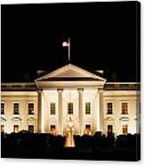 White House At Night Canvas Print