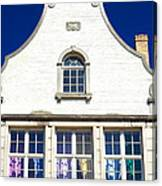 White House In Bruges Canvas Print