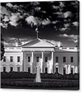 White House Sunrise B W Canvas Print