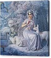 White Kunja Canvas Print