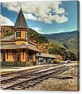 White Mountans Crawford Train Depot Canvas Print