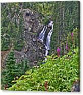 White Pearl Waterfall Vert Canvas Print