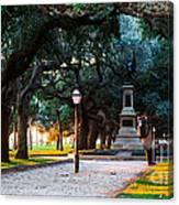 White Point Garden Walkway Charleston Sc Canvas Print