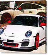 White Porsche Gt3rs Canvas Print