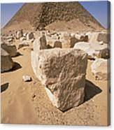 White Pyramid Of King Snefru Canvas Print
