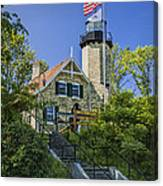 White River Lighthouse In Whitehall Michigan No.057 Canvas Print