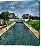 White River Park Canal In Indy Canvas Print