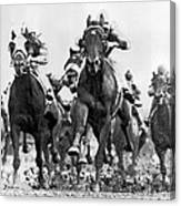 White River With Jockey Tommy Barrow Canvas Print