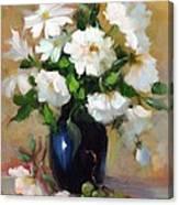 White Rose Elegance Canvas Print